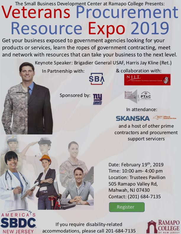 Ramapo College Veterans Procurement Resource Expo 2019